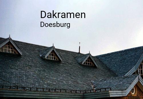 Dakramen in Doesburg