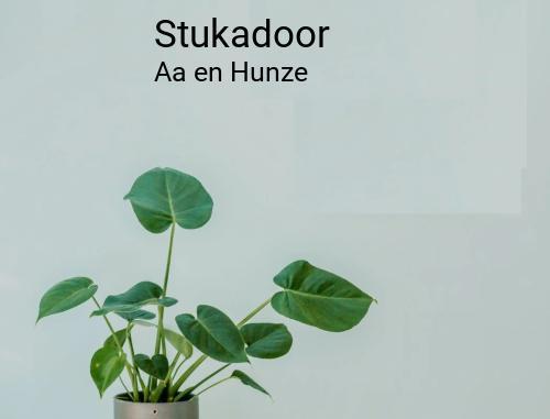 Stukadoor in Aa en Hunze