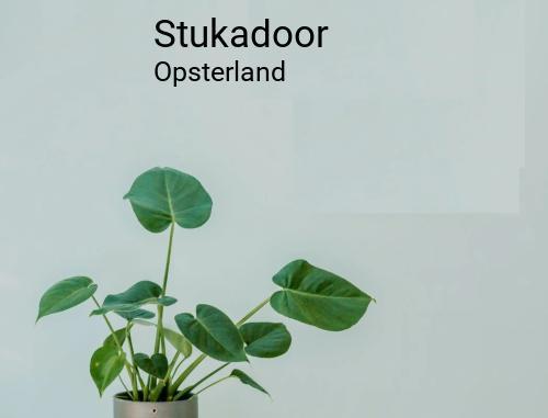 Stukadoor in Opsterland
