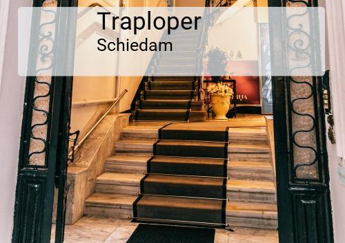 Traploper in Schiedam